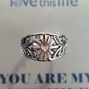 Love this Life Setting Silver Ring